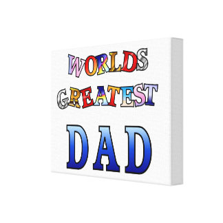 Worlds Greatest Dad Wrapped Canvas 14x11""