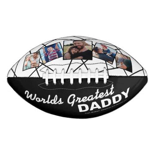 Worlds Greatest Daddy 5 Photo Football