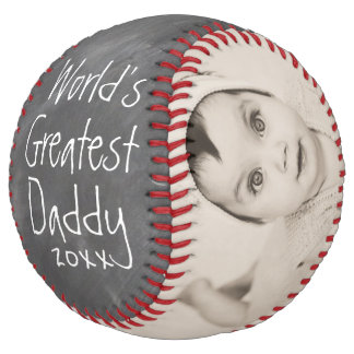 Worlds Greatest Daddy - Fathers Day Personalized Softball