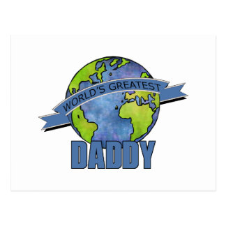 World's Greatest Daddy Postcard