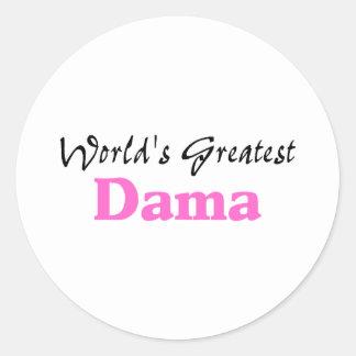 World's Greatest Dama Classic Round Sticker