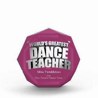 World's Greatest Dance Teacher Acrylic Award