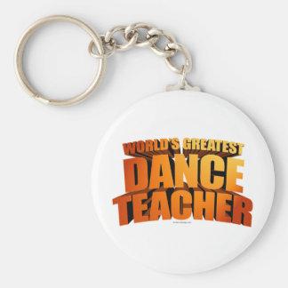 World's Greatest Dance Teacher Keychains