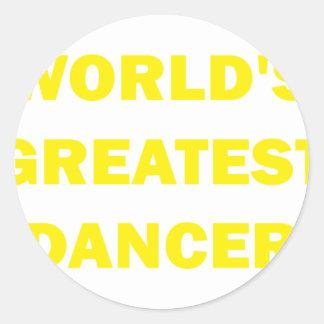 World's Greatest Dancer Classic Round Sticker
