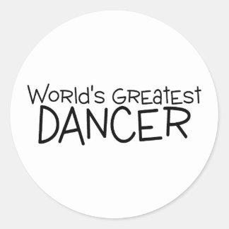 Worlds Greatest Dancer Classic Round Sticker