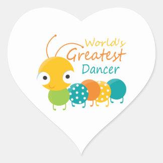 World's Greatest Dancer Heart Sticker