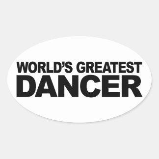 World's Greatest Dancer Oval Sticker