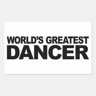 World's Greatest Dancer Rectangular Sticker
