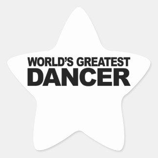 World's Greatest Dancer Star Sticker