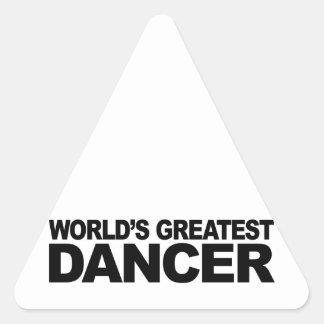 World's Greatest Dancer Triangle Sticker