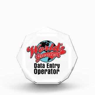 Worlds Greatest Data Entry Operator Award