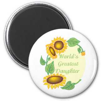 World's Greatest Daugher Country Sunflower 2 Inch Round Magnet