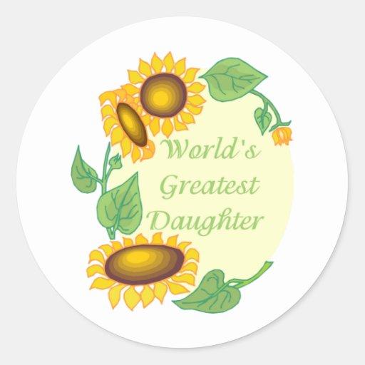 World's Greatest Daugher Country Sunflower Sticker