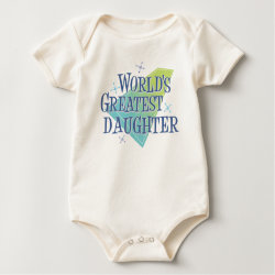Infant Organic Creeper with World's Greatest Daughter design
