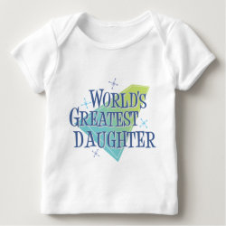 Baby Fine Jersey T-Shirt with World's Greatest Daughter design