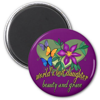 World's Greatest Daughter Gifts 2 Inch Round Magnet