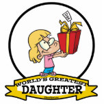 WORLDS GREATEST DAUGHTER II CARTOON ACRYLIC CUT OUTS