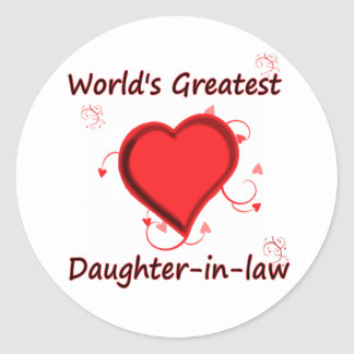 World's Greatest daughter-in-law Classic Round Sticker