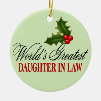 World's Greatest Daughter In Law Christmas Tree Ornaments