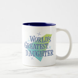 Two-Tone Mug with World's Greatest Daughter design