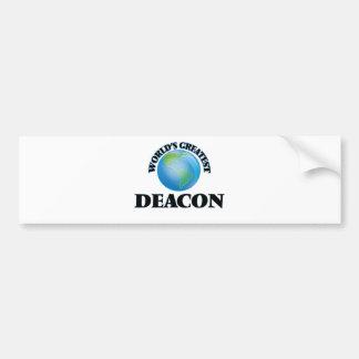 World's Greatest Deacon Car Bumper Sticker