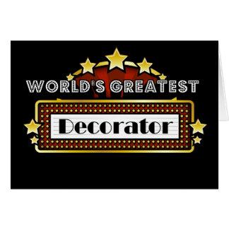 World's Greatest Decorator Greeting Card