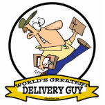 WORLDS GREATEST DELIVERY GUY MEN CARTOON PHOTO CUTOUTS