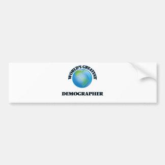 World's Greatest Demographer Car Bumper Sticker