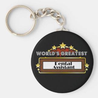 World's Greatest Dental Assistant Basic Round Button Keychain