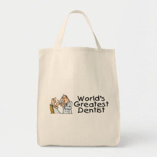 Worlds Greatest Dentist Canvas Bags
