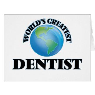 World's Greatest Dentist Large Greeting Card