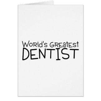 Worlds Greatest Dentist Card