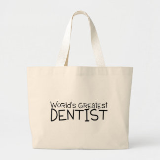 Worlds Greatest Dentist Large Tote Bag