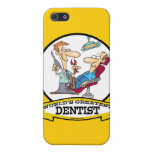 WORLDS GREATEST DENTIST MEN CARTOON iPhone 5 CASE