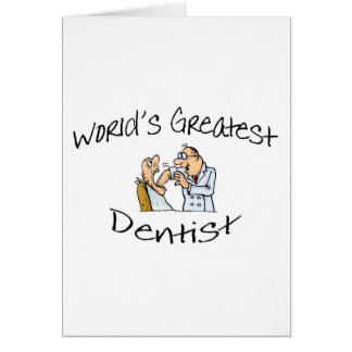 Worlds Greatest Dentist Open Wide Card