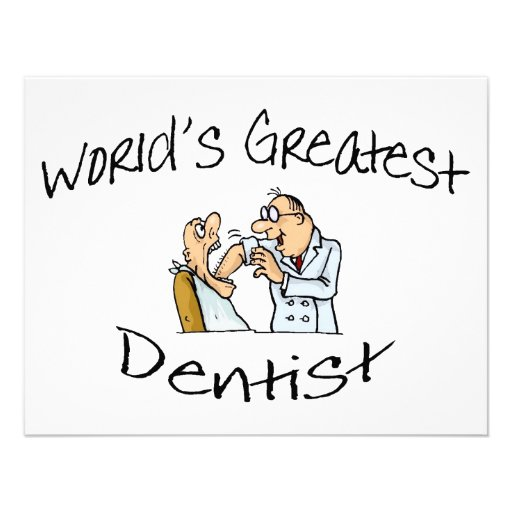 Worlds Greatest Dentist Open Wide Personalized Invite