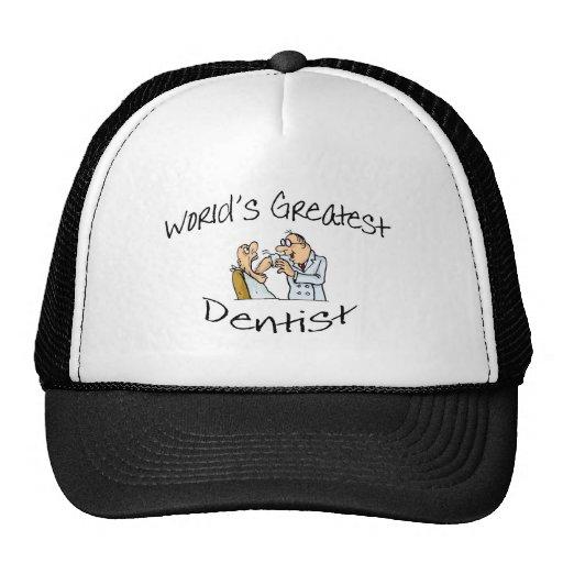 Worlds Greatest Dentist Open Wide Mesh Hat