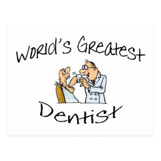 Worlds Greatest Dentist Open Wide Postcard