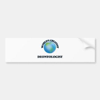 World's Greatest Deontologist Car Bumper Sticker