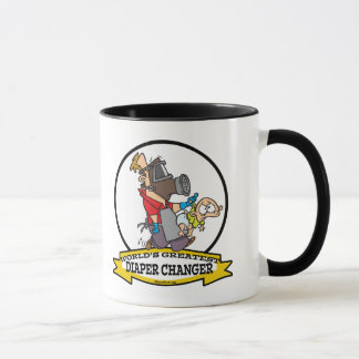 WORLDS GREATEST DIAPER CHANGER DAD CARTOON MUG
