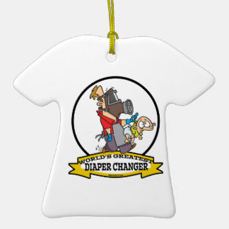 WORLDS GREATEST DIAPER CHANGER DAD CARTOON ORNAMENTS