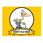 WORLDS GREATEST DIRTY OLD MAN CARTOON POSTCARD
