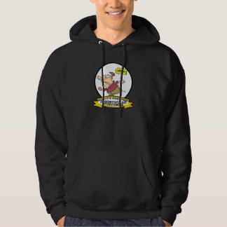 WORLDS GREATEST DISGRUNTLED CUSTOMER MEN CARTOON HOODIE