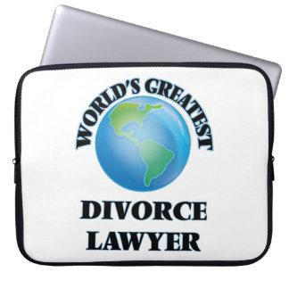 World's Greatest Divorce Lawyer Laptop Sleeves