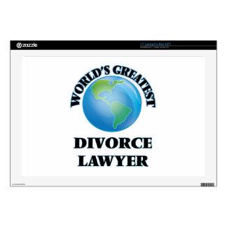 World's Greatest Divorce Lawyer Laptop Decals
