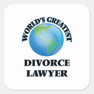 World's Greatest Divorce Lawyer Sticker