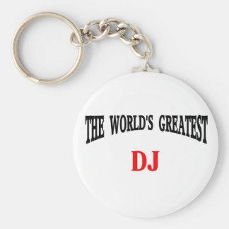 World's Greatest DJ Keychain
