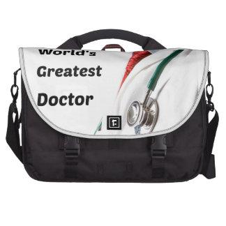 World's Greatest Doctor Design Laptop Messenger Bag