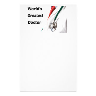 World's Greatest Doctor Design Stationery