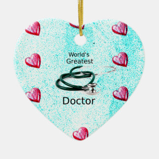 World's Greatest Doctor Professions Collection Ceramic Ornament
